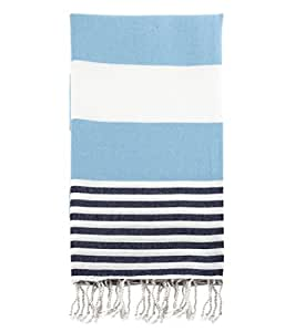 Swan Comfort 100% Cotton Pestemal Turkish Bath Towel, 39u0026quot; X 70u0026quot;