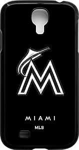 Onelee?? - MLB Team Logo, Miami Marlins Logo Samsung GALAXY S4 Cases (Black) - Miami Marlins 1 wangjiang maoyi by lolosakes