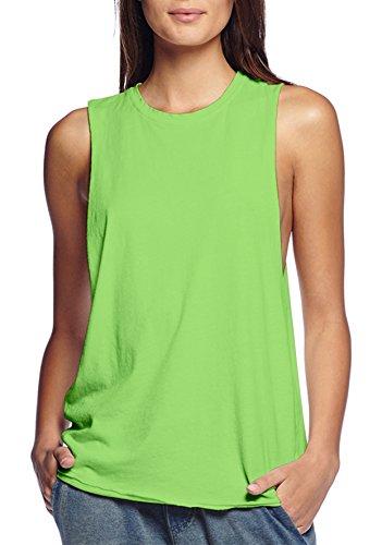 Womens Cotton Jersey Tank Top Shirt KT44040 LIME 3X