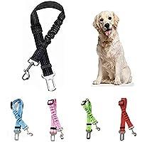 Cinturón de Seguridad para Perro - Cinturón elástico para Mascotas - Arnés Fabricado en Nylon con Parte elástica - 100…