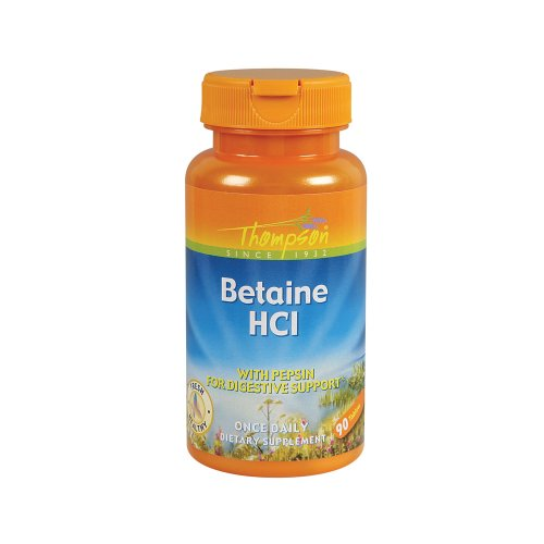 Thompson Betaine Hcl with pepsin Tablets, 324 Mg, 90 Count (Pack of 2) ()