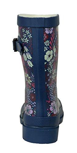 Femme Fleurs Bottes Demi MADSea Impression en Caoutchouc Bottes Flower 5qYA5wPI