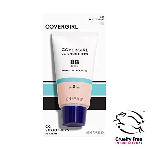COVERGIRL Smoothers Lightweight BB Cream, Fair to Light 805, 1.35 oz (Packaging May Vary) Lightweight Hydrating 10-In-1 Skin Enhancer with SPF 15 UV Protection