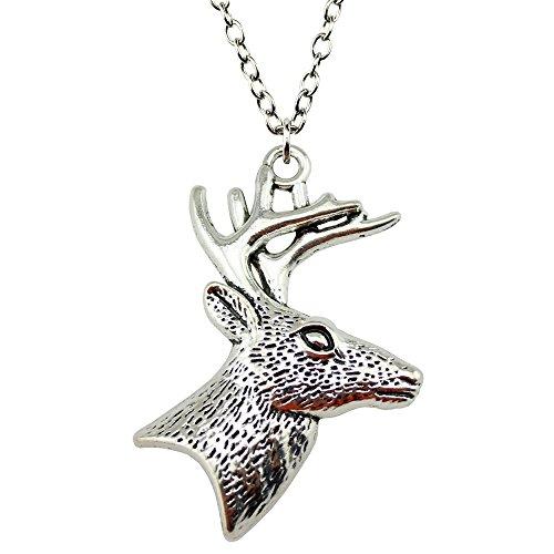 deer head necklace - 2