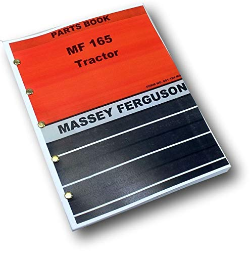 Massey Ferguson Mf 165 Tractor Parts Catalog Manual Book Exploded View Assembly ()