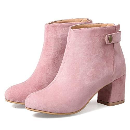 Pink Stivali Medio Tacco NIGHTCHERRY Donna Cerniera wBFzxqXg