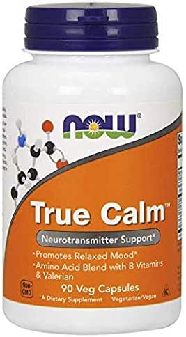 Now Supplements, True Calm,Amino Acid Blend with B Vitamins & Valerian (250 Count) 250 Capsules…