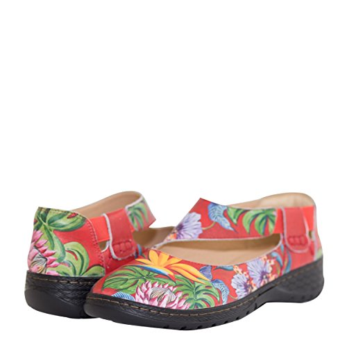 Mita Island Leather Escape Women's by Jane Anuschka Printed Anuschka Anna Leaves Lovely Mary q6wgB1B