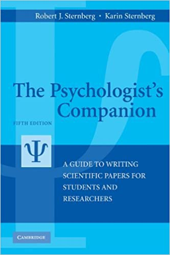 Book The Psychologist's Companion: A Guide to Writing Scientific Papers for Students and Researchers by Robert J. Sternberg (2010-12-31)