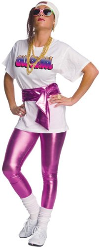 Fly Girl Hip Hop Costume: Shirt, Leggings, Belt, Sunglassses and Hat with Wig