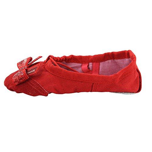 Scarpe Da Ballo Da Donna Per La Pratica Dello Yoga Ballare Rosso