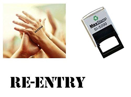 /Ideal para festivales fiestas bares /exposiciones autoentintable negro sello 28/x 6/mm eventos especiales/ Retorno sello en la mano/