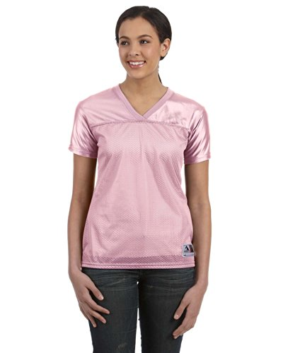 Augusta Ladies Replica Football Jersey, Light Pink, Large