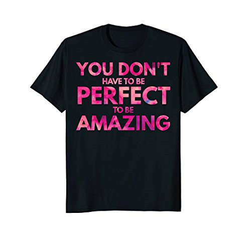 Mens Nobody's Perfect Be Amazing Inspiring Positive Thinking Vibe Large Black