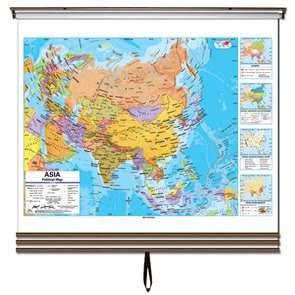 Eastern Hemisphere Advanced Political Wall Map Set-Roller w/ Brackets