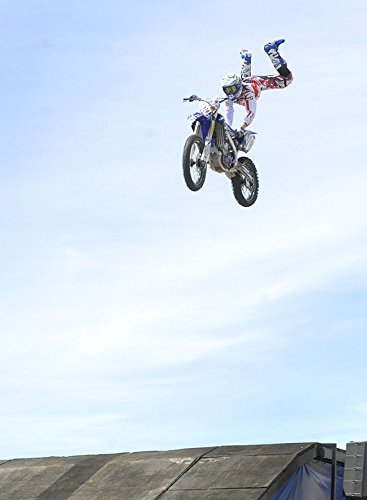 laminated poster fmx jump motocross