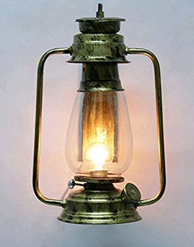 Jyatu Antique Style Metal And Glass Clear And Transparent Lantern