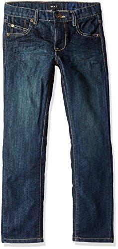 - DKNY Boys' Big Mott Stretch Denim Straight Fit Jean, Dark Indigo, 12