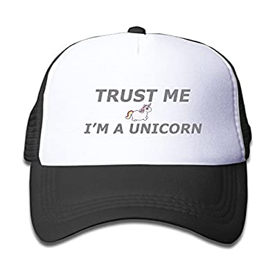 Trust Me Im A Unicorn Fun Jokes Children Mesh Trucker Cap Adjustable Fashion Kids Mesh Snapback Hat Trucker Caps Pink by BHUIA
