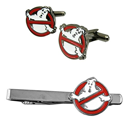 Outlander Ghostbusters No Ghost Cufflink & Tiebar - New 2018 Movies - Set of 2 Wedding Logo w/Gift Box by Outlander