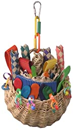 Super Bird Creations 10 by 5-Inch Foraging Basket Bird Toy, Medium