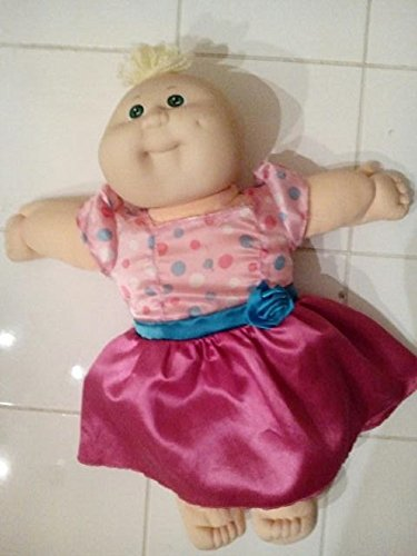 Cabbage Patch Doll Vintage 1978, 1982 Blonde Hair Blue Eyes in Dress ()