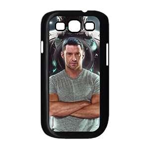 Real Steel Hugh Jackman funda Samsung Galaxy S3 9300 caja funda del teléfono celular del teléfono celular negro cubierta de la caja funda EEECBCAAL06920