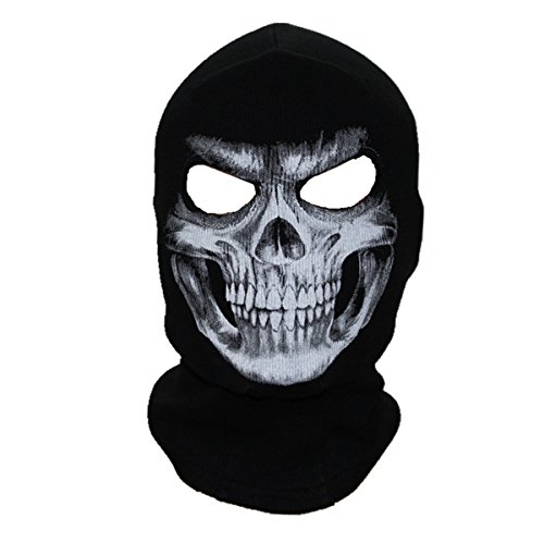 ECYC Unisex Ghost Skull Full Face Balaclava Masks Warmly Motorcycles Mask Hood Beanie Halloween Cosplay Mask ()