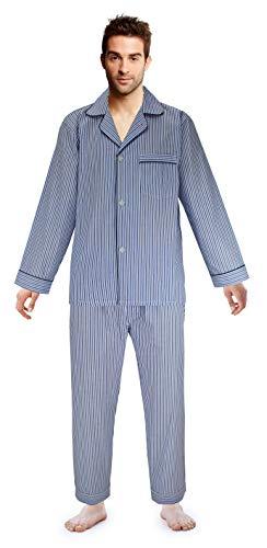 Tall Broadcloth - Casual Trends Men's Pajama Set Broadcloth Pajamas for Men, Medium