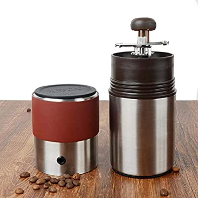 cuffslee Cafetera de manivela integrada portátil para Viajes, para Exteriores, Camping, Aventura, máquina de café expreso, Acero Inoxidable, Molinillo de Frijoles para el hogar: Amazon.es: Hogar