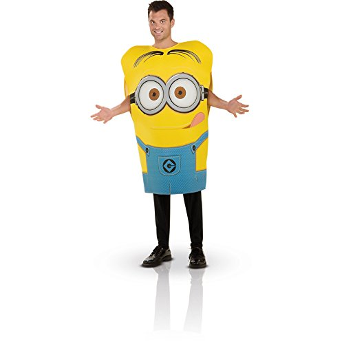 [Rubie's Costume Despicable Me 2 Foam Tunic Carl Dave, Blue/Yellow, Standard Costume] (Adult Minions Costumes)