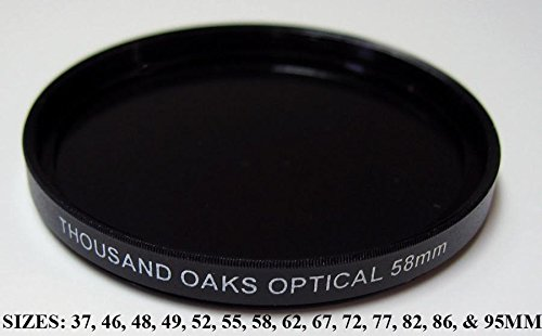 Threaded Black Polymer Solar Filter for Cameras, 55mm, SolarLite, Part #55T. by Thousand Oaks Optical
