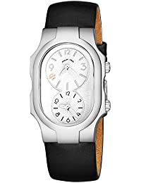 Signature Womens Natural Frequency Technology Watch - Classic White Face Dual Time Zone Ladies Watch -