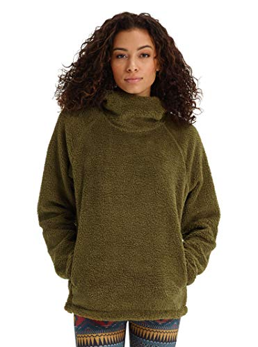 Burton Women's Lynx Pullover Fleece, Hickory, Small
