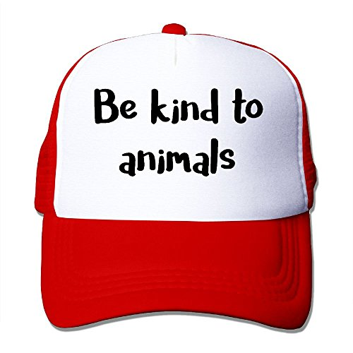 Animal Crossing Hats (XiaoHans Momen Be Kind To Animals Classic Hip-Hop Red Mesh Hat Adjustable Snapback)