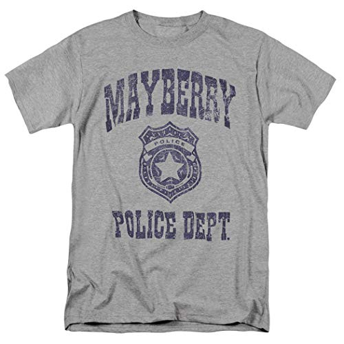Popfunk The Andy Griffith Show Mayberry Police Department T Shirt (Medium) Gray