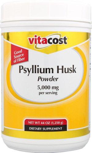 Vitacost Psyllium Husk Powder -- 5,000 mg per serving - 44 oz (1,250 g)