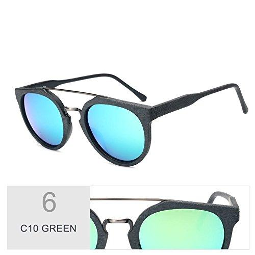 Uv400 Revestimiento TIANLIANG04 C10 Acetato De En Sol Hoja Gafas De Retro De Madera Madera Tendencia C10 Gafas Polarizadas Anti GREEN Negro Sol Gafas De TrT6R