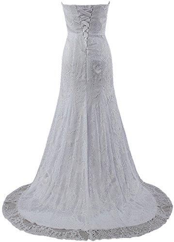 Women's Wedding ANTS Gowns Bridal Ivory Dresses Mermaid Lace Udx1q