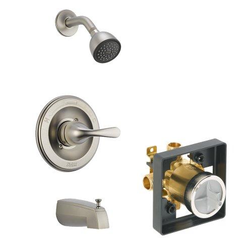 Pressure Shower Balance Classic (Delta Delta KTSDCL-T13420-SS Classic Tub/Shower Kit Pressure-Balance Single-Function Cartridge, Brilliance Stainless Brilliance Stainless)