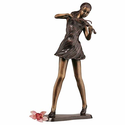 Design Toscano The Young Violinist Bronze Sculpture