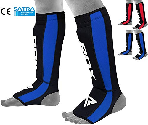 - RDX Shin Guard Neoprene MMA Instep Pads Leg Muay Thai Boxing Training Protective Gear Kickboxing (CE Certified by SATRA)