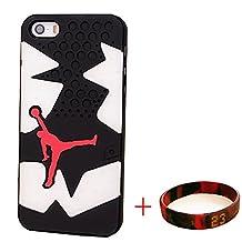 EHIPI Shoes Showcase Jordan iPhone 5S CASE,Michael Air Jordan Apple Iphone 5S Case Cover 3d Sneaker Sole Rubber,Rubber Feels Looks like the Sneaker Sole Thin For Apple Iphone 5S Case (5S Jordan 8)