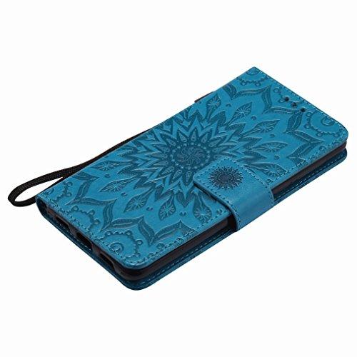 Yiizy Huawei Honor 6X / Mate 9 Lite / GR5 2017 Custodia Cover, Sole Petali Design Sottile Flip Portafoglio PU Pelle Cuoio Copertura Shell Case Slot Schede Cavalletto Stile Libro Bumper Protettivo Bors