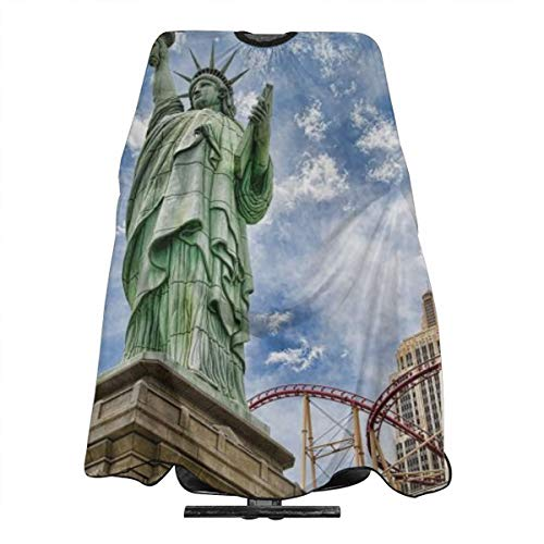 VIVIAN RICE Professional Salon Hair Cut Cape,Apron with Adjustable Snap Closure,Hairdressers and Barbers Statue of Liberty,Easy Clean,Lightweight]()