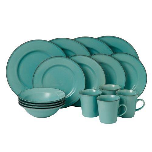 Royal Doulton 40012632 Union Street 16 Piece Dinnerware Set, Blue (Rustic Stoneware)