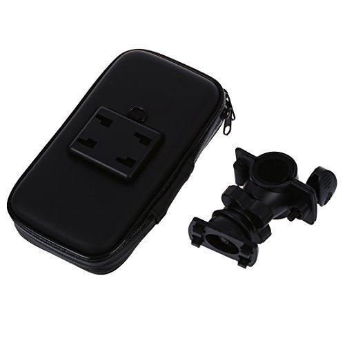SODIAL(R) Sumsung i9300 S3 MP3 MP4 schwarzer wasserdichter Tasche Doppel-Reissverschluss Fahrradstaender