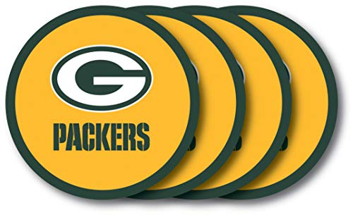 (Duck House Green Bay Packers Coaster Set - 4 Pack )