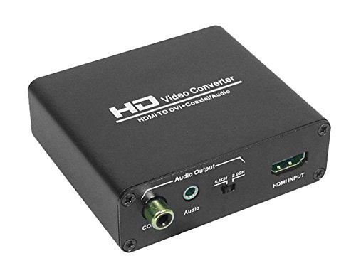 HDMI to DVI,VCANDO HDMI to DVI Converter with Digital Coaxial and Analog Stereo Audio Output, Compatible with PS3, Xbox One, Xbox 360, Amazon Fire Stick, Fire TV
