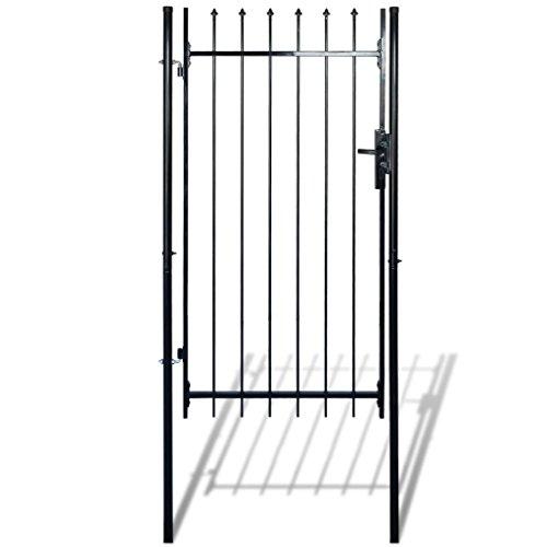 Daonanba Decorative Garden Gate Heavy Duty Door Fence Gate with Spear Top Practical Durable Barrier Single Door 39''W x 79''H by Daonanba